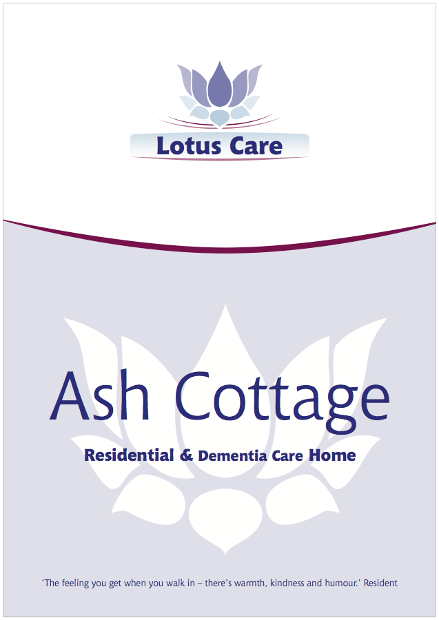 Lotus Care Home brochures – Ash Cottage, Bury, Lancashire brochure