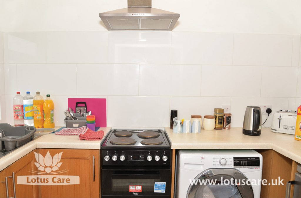 Kitchen facilities at The Bungalow Independent Living, Madeley, Telford, Shropshire