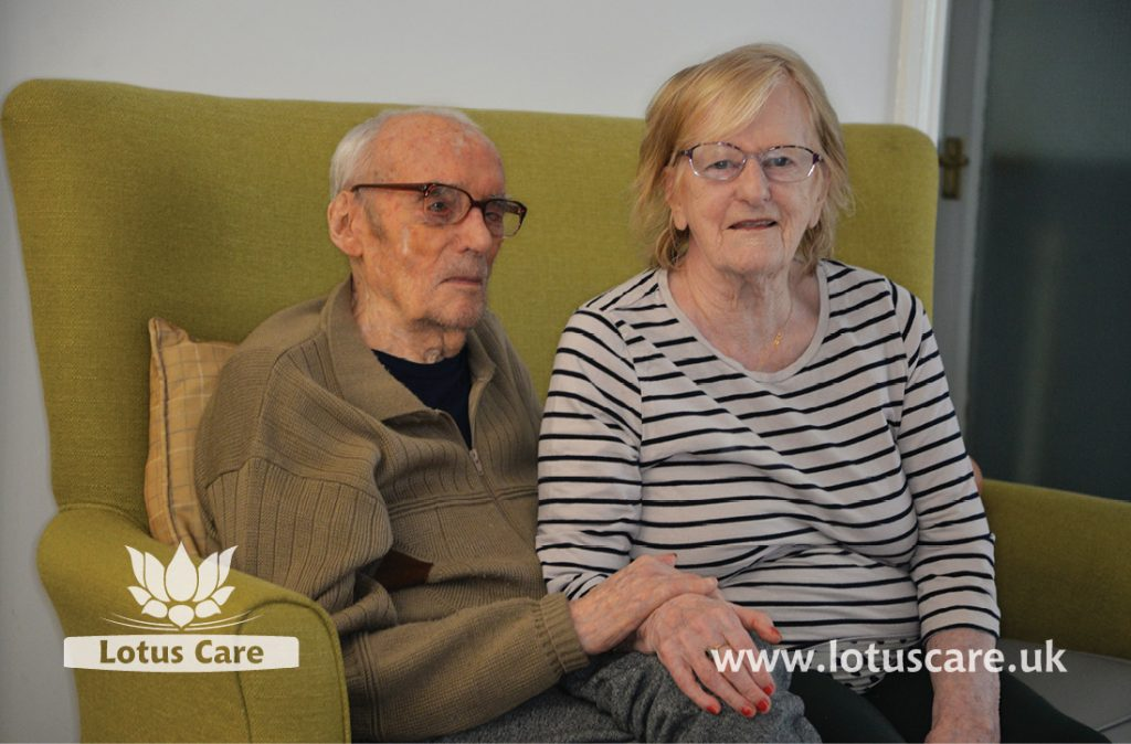 A coupe's room that make their home like their previous home at The Villa Care Home.