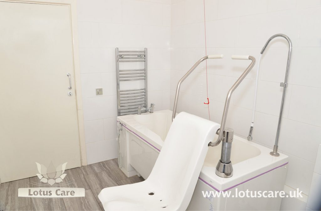 Special bath lift at The Villa, Telford, Shropshire