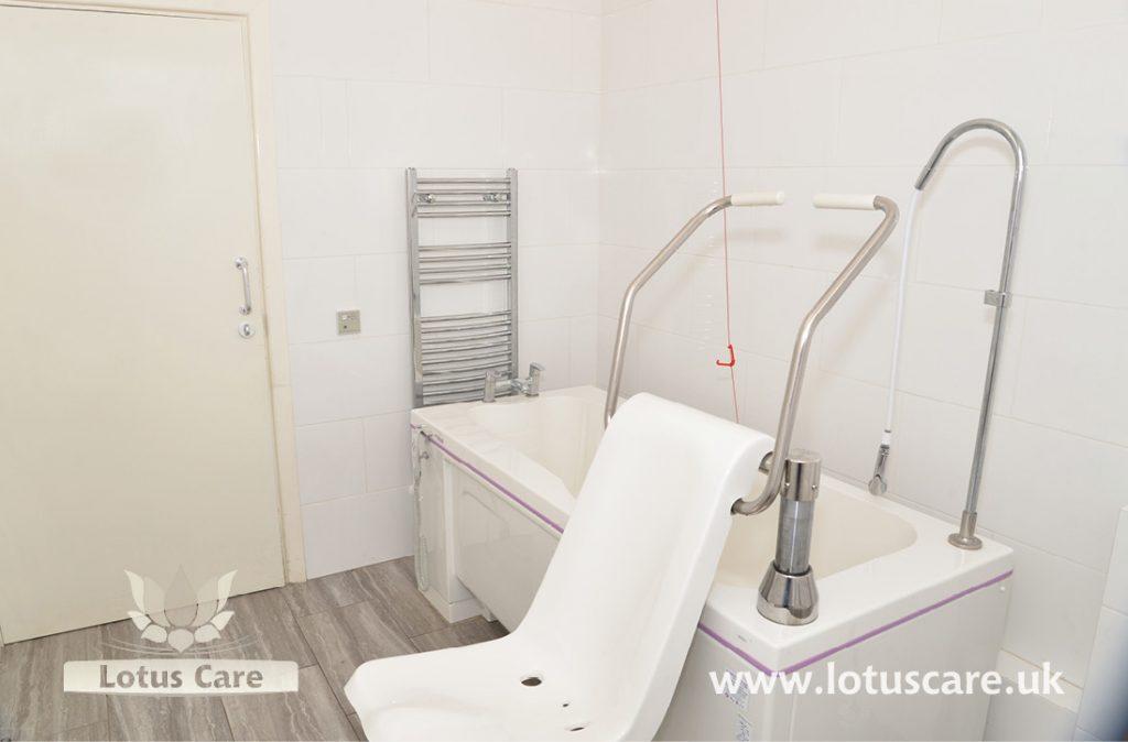 Special bath lift at The Villa, Telford, Shropshire