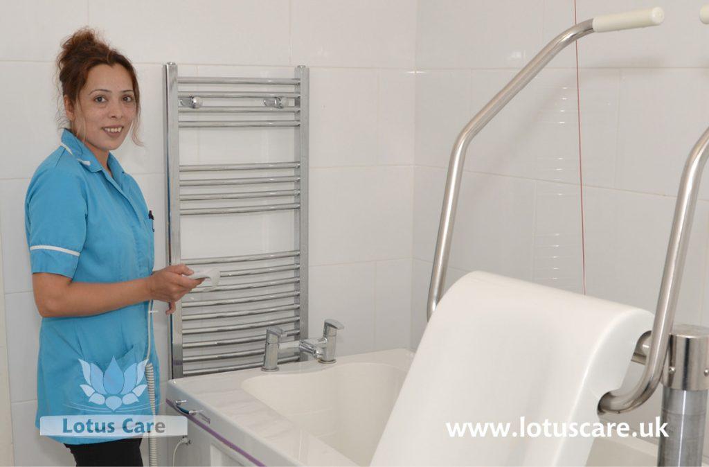 Special bath lift at The Villa, Telford